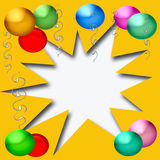 Party blowout Royalty Free Stock Photography