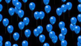 Party blue balloons generated seamless loop video with alpha stock video footage