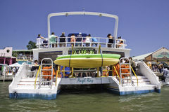 Party Boat in Belize City, Belize Stock Photography