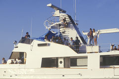 Party on boat scene Royalty Free Stock Photography