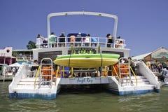 Party-Boot in der Belize-Stadt, Belize stockfotografie