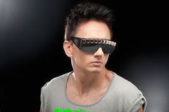Party boy in club glasses Royalty Free Stock Photo