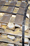 Party brass ingots packed pack. Metal smelting Royalty Free Stock Photography
