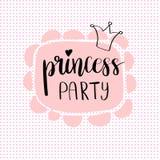 Party Bridal公主阵雨卡片设计 图库摄影