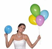 Party bride. Stock Images