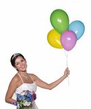 Party bride. Royalty Free Stock Image