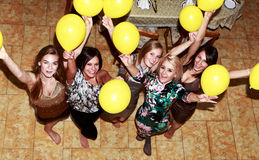 Party bridesmaids before the wedding Stock Photo
