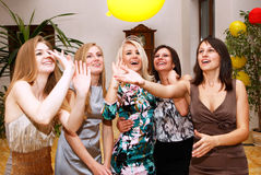 Party bridesmaids before the wedding Royalty Free Stock Photography