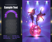 Party Brochure Flyer Vector Template. Vector dance flyer, you can change this image that it was uploaded also with eps10 file Royalty Free Stock Photo
