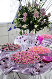 Party buffet and decorations Stock Photo