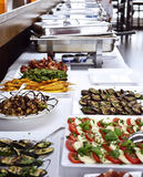 Party buffet with italian antipasto Royalty Free Stock Images