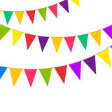 Party bunting. Vector illustration of Party bunting Royalty Free Stock Photography