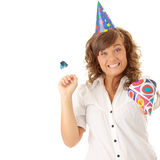 Party businesswoman royalty free stock images