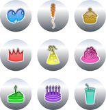 Party buttons Royalty Free Stock Photo
