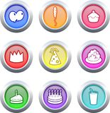 Party buttons stock illustration