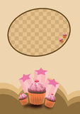 Party cake background Stock Images