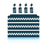 Party cake icon. Shadow reflection design. Vector illustration vector illustration
