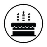 Party cake icon. Thin circle design. Vector illustration vector illustration