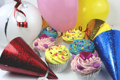Party cake scene Royalty Free Stock Images