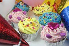 Party cake scene Stock Photos