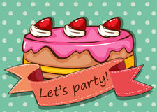 Party cake Stock Image
