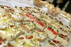 Party canapes Royalty Free Stock Images