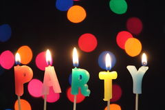 Party candles Stock Photo