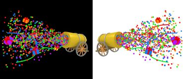 Party Cannon Stock Photo