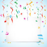Party Card With Confetti Royalty Free Stock Image