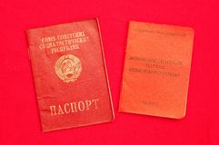 Party card  of CPSU and passport Stock Photography