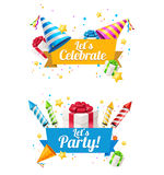 Party Card, Flyer or Placard. Vector Royalty Free Stock Images