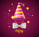 Party Card or Placard. Vector royalty free illustration