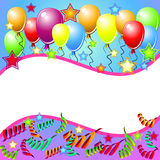 Party Card With Balloons Royalty Free Stock Photos