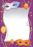 Party_carnival_background. Vector illustration as background for carnival and party invitation cards with colored balloons and confetti Royalty Free Stock Images
