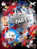 Party Casino Comic Girl Stock Photo