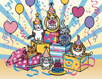 Party Cats Stock Photo
