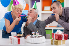 Party for celebrating 70th birthday Royalty Free Stock Photo