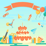 Party and celebration background Stock Images