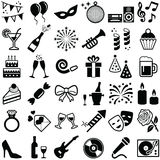 Party and Celebration. Party and Celebrate icon collection -  silhouette Stock Images