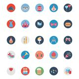 Party and Celebration Colored Illustration Vector Icons vector illustration