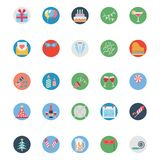 Party and Celebration Colored Illustration Vector Icons stock illustration