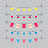 Party And Celebration Design Elements collection. Festive Event and Show icons set. Birthday objects. With carnival Royalty Free Stock Image