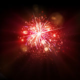 Party celebration fireworks Stock Images