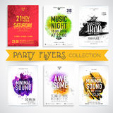 Party celebration Flyer or Banner collections. Royalty Free Stock Photo