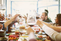 Party Celebration Food Happiness Cheers Concept Royalty Free Stock Photography
