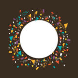 Party celebration with frame. Royalty Free Stock Image