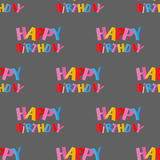 Party celebration happy birthday surprise typography seamless pattern decoration event anniversary vector. Royalty Free Stock Photo