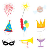 Party and Celebration icon collection vector illustration Royalty Free Stock Photography