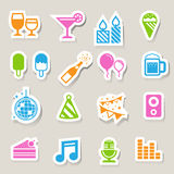 Party and Celebration icon set. Stock Photos