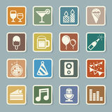 Party and Celebration icon set. Royalty Free Stock Photography